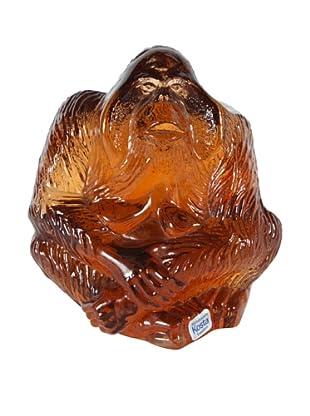 Orangutan Glass Figurine WWF, Orange
