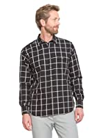 Cortefiel Camisa Flanell (Negro)