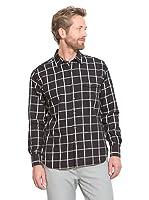 Cortefiel Camisa Flanell (Negro)