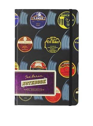 Ted Baker A5 Vinyls Notebook, Black
