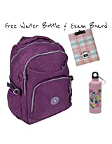 Very Light Premium Micro Fiber School Bag & Backpack With Free Water Bottle & Exam Pad