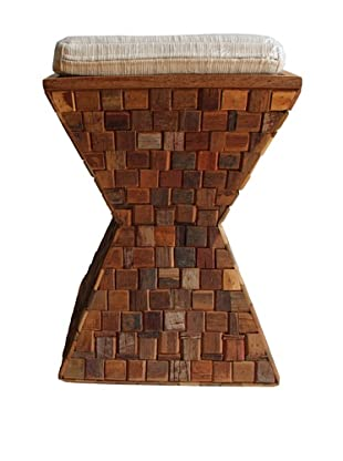 Asian Art Imports Mosaic Stool With Cushion