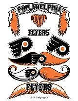 StacheTATS Philadelphia Flyers Temporary Mustache Tattoos