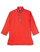 lil'posh Boys Printed Cotton Kurta with Pyjama