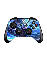 Survival, Action, And Adventure Pair Of Vinyl Decal Controller Sticker Skins For Xbox One (Swirl Blue Light Dmc)