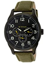 Titan Purple Multi-Function Analog Black Dial Men's Watch - 9479AF02J