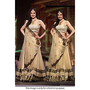 Bollywood Replica Divya Khosla Net Lehenga In Cream Colour NC697