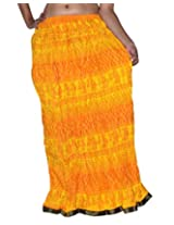 Famacart Women Long Skirt Yellow