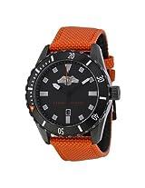 Armani Exchange Black Dial Orange Nylon Men's Watch -AX1705