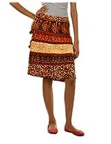 Fashiana Girls|Women's Cotton Wrap Skirt (Fsktf113Ktm _Musturd _Free Size)
