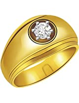 0.12 cts Solitaire Yellow Gold Mens Diamond Ring