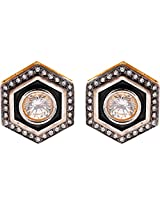 Ada Designer Jewellery Gold Silver Alloy Stud Earrings for Women (ER-9)
