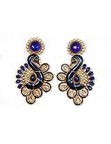 Sunehri Peacock Ethnic Earrings for Women