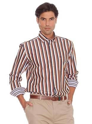 PEDRO DEL HIERRO Camisa Rayas (Blanco / Marrón)