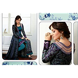 Neha Sharma designer salwar kameez with long jacket style over coat