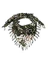 Uso Uno scarf in animal print with fringes on all sides