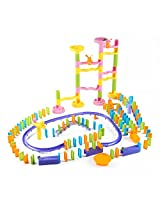 Domino World Super Deluxe Dominoes Playset for Kids (188 pcs)