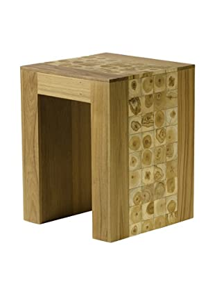 Foreign Affairs JavaTeak Stool, Teak Flower Inserts
