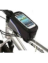 ROSWHEEL 4.8'' 5.5'' Bicycle Touchscreen Phone Bag Frame Tube Bag(M:Blue)