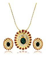 Eclat Brass Gold Plated Pendant Set for Women New Fashion Jewelry (1113111GG)