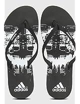 Beach Print Black Flip Flops Adidas
