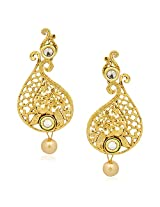 Kundan Pearl Earrings For Women Girls in Traditional Ethnic Gold Plated Earings By Meenaz J118