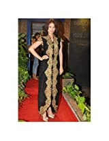 Anjana Sukhani Black Party Wear Fancy Anarkali Salwar Suit