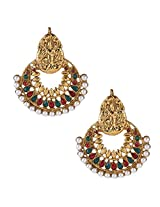 Ethnic Indian Bollywood Jewelry Set Traditional Fashion Pearl EarringsISREA026MG