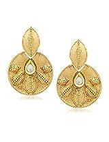 Kundan Pearl Earrings For Women Girls in Traditional Ethnic Gold Plated Earings By Meenaz J120