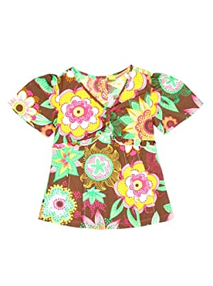 Miss Sixty Kids Camiseta Flores (Marrón)