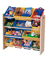 Tot Tutors Kids' Toy Organizer With Storage Bins, Primary Colors