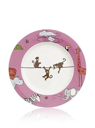 Villeroy & Boch Kinderteller Funny Zoo Affe flach 22 cm