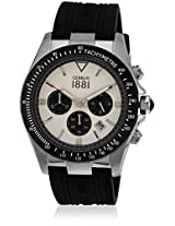 Cra084A254G Black/Cream Chronograph Watches
