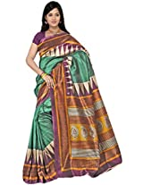 Kothari Printed Saree (KT0117MC_Green)
