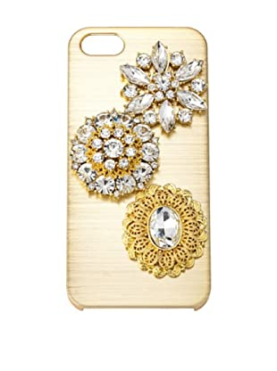Olivia Riegel Gold Jossie iPhone 5 case Swarovski® Crystal Encrusted Medallion