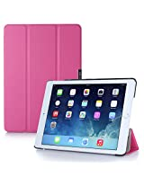 iPad Air 2 Case, i-Blason Apple iPad Air 2 Case [2nd Generation 2014 Release] i-Folio Slim Hard Shell Stand Case Cover [Life Time Warranty] for iPad Air 2 (iPad Air 2, Pink)