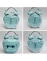 Blue Classic Bell Analog Alarm Clock (Shapes May Vary)