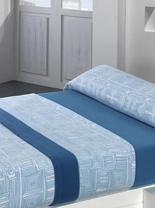 Mantas Mora Juego de Sábanas Térmica (Azul)