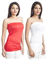 Teemoods Womens Viscose Long Sleeve Top (Tm-C-1465Wht&Red-L _White N Red _Large)