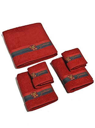 Gattinoni Set 5 pezzi asciugamano Planetario (rosso)