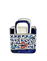 Craftghar Ceramic Cutlery Stand, Blue