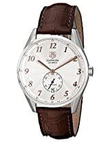 Tag Heuer Men's 'Carrera' Silver Dial Brown Leather Strap Watch WAS2112.FC6181