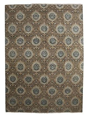 Darya Rugs Ikat Oriental Rug, Light Blue, 9' 1