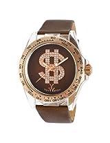Toy Watch Brown Dial Brown Satin Strap Unisex Watch -TOYD07BR