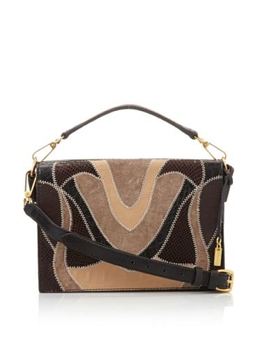 Foley + Corinna Women's Small Letter Bag (Black Patchwork)
