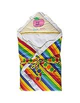 Baby Wrap - Baby Blanket - Big Stripes Multicolor Yellow
