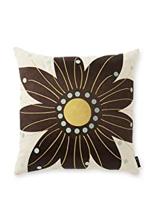 emma at home Oahu Embroidered Linen Pillow (Ink)