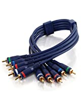 C2G / Cables To Go 40006 Velocity Component Video + RCA Stereo Audio Cable (1.5 Feet, Blue)