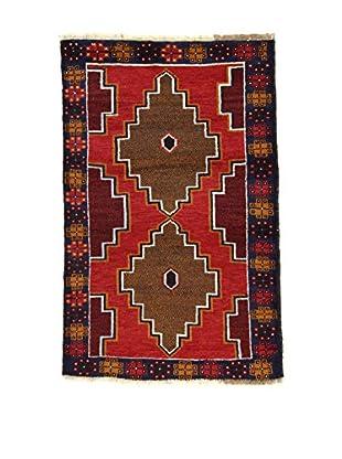 Eden Teppich Beluchistan rot/braun/blau 90 x 140 cm