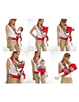 Comfortable Stylish Adjustable All Seasons Hip Baby Carrier Bag - For 3 - 12 Month Babies and Infants
